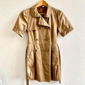 H&M short sleeve trench coat Sz 4